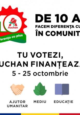 Tu votezi, Auchan finanțează!