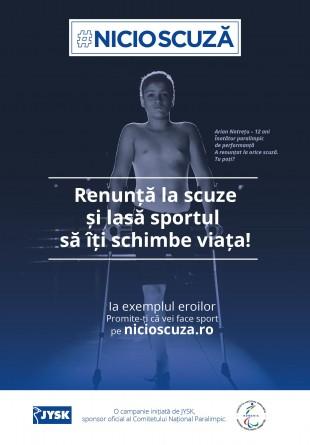 #NICIOSCUZĂ - campania de responsabilizare socială care îi are în prim-plan pe sportivii paralimpici români
